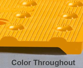 Transit Tactile Warning Surface Showing Color Throughout