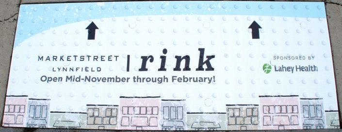 Rink Advertising Replaceable Graphic Tile System