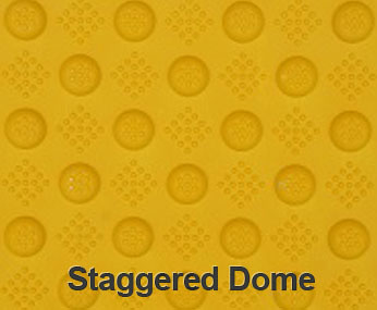 Yellow Staggered Dome
