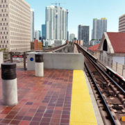 Transit Tactile System with Skyline Behind