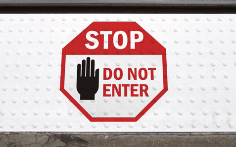 STOP - DO NOT ENTER Graphic Tile