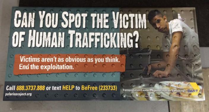 Human Trafficking PSA on Replaceable Graphic Tile System