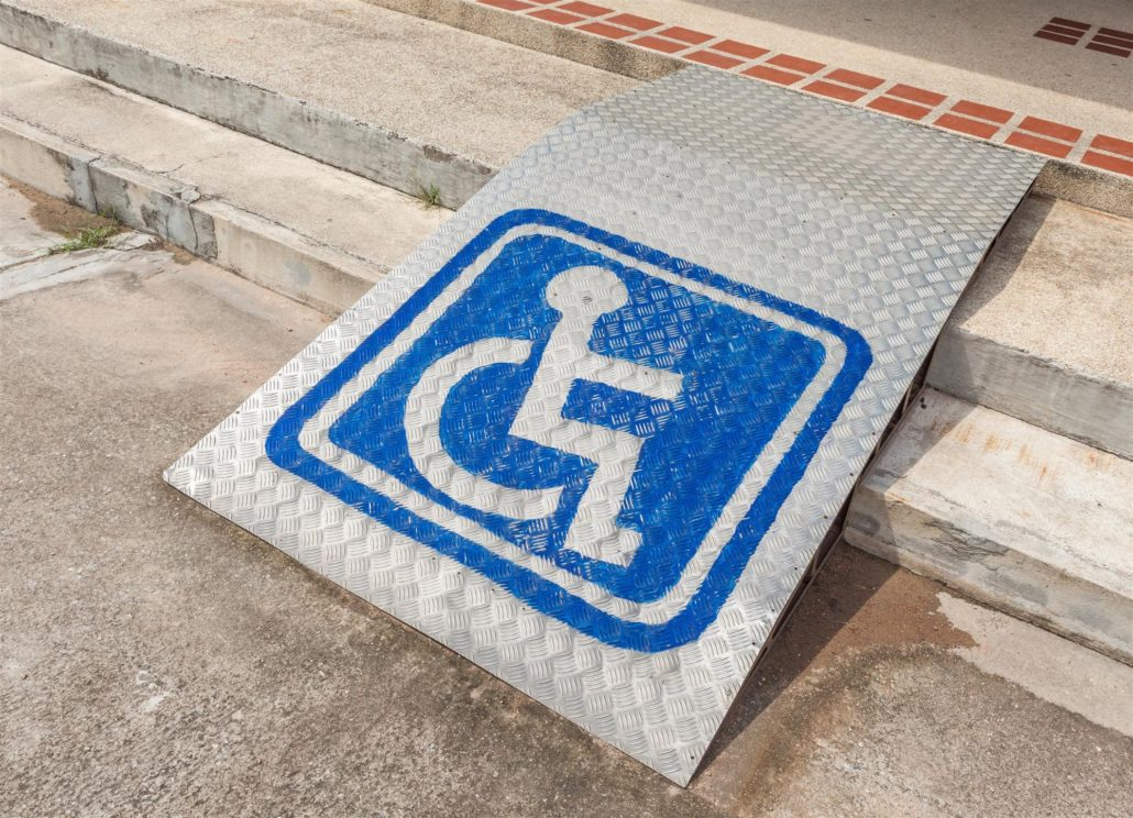handicapped curb ramp