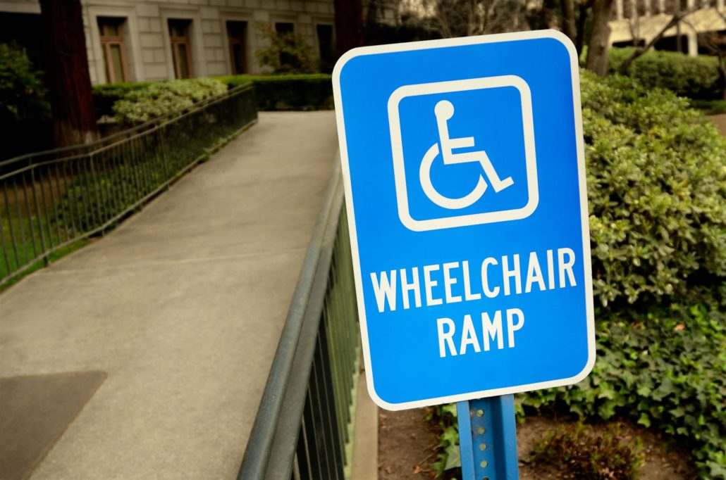 ADA Wheelchair ramp sign