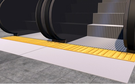 ada detectable warning near escalator