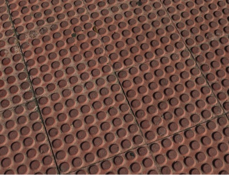 detectable warning brick surface