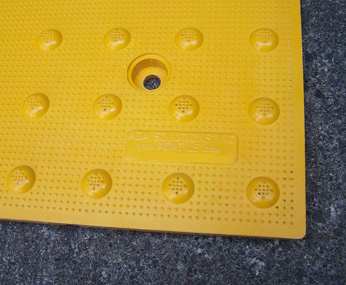Yellow Cast in Place Replaceable Tactile Panel - 2