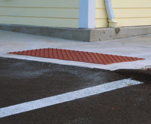 Brick Red Surface Applied Detectable Warning System