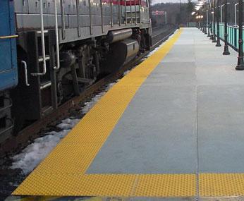 Yellow Transit Detectable Warning Tile