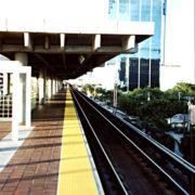 Yellow ADA Compliant Tile on Transit Facility