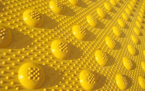 Yellow Sidewalk Bumps