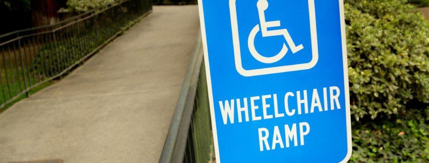 ADA Wheelchair ramp sign