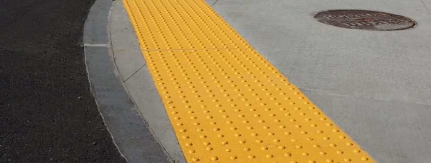 sidewalk curb anti slip pad