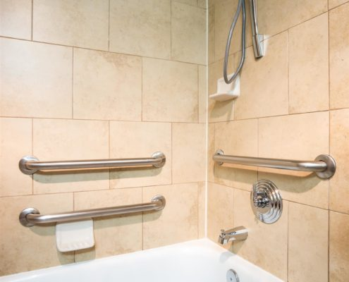 Disabled Access Bathtub with Grab Bar Hand Rails