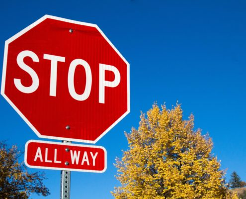 all-way stop sign