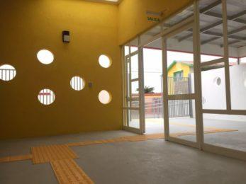 Detectable Warning Tiles Used to Create Walkway