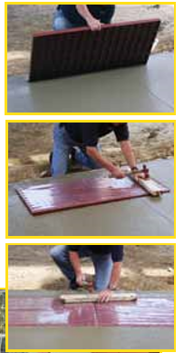 Man Measuring and Cutting ADA Square Tile Before Installation