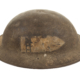 A rusty Brodie helmet from WW1.