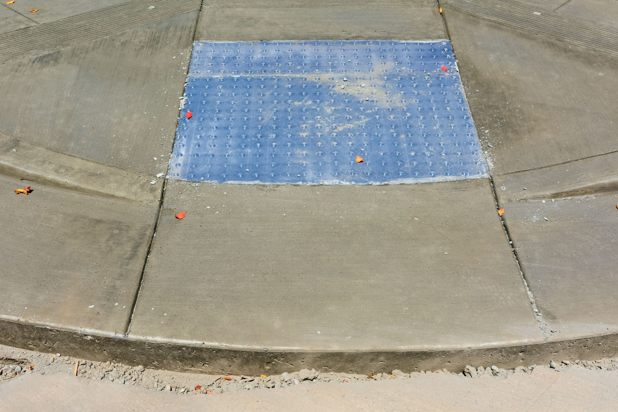 ADA compliant detectable warning surface tactiles installation