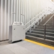 Wheelchair lift with stairs Disability elevator Indoor Public building