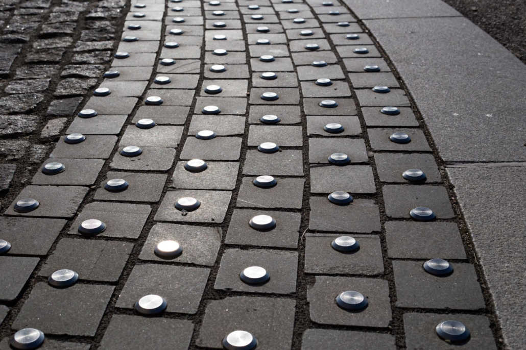 Tactile tiles for the visually impaired in the city
